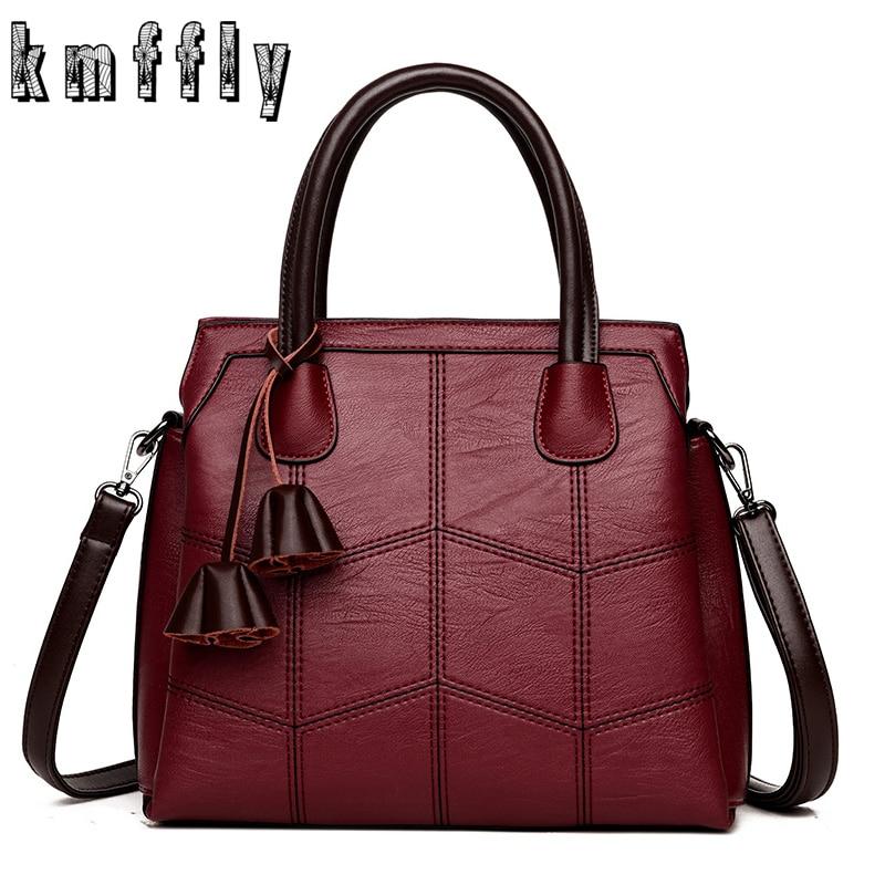 KMFFLY Brand Women Bags Genuine Leather Bags 2018 fashion Women Handbags  High Quality Sheepskin Shoulder Bags Ladies Sac A Main wholesale sac a sac  brand cb0b56204f