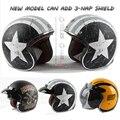 Torc casco cascos de motocross capacete de la vendimia t57 moto vespa de la motocicleta cafe racer 3/4 retro casco abierto con la cepe