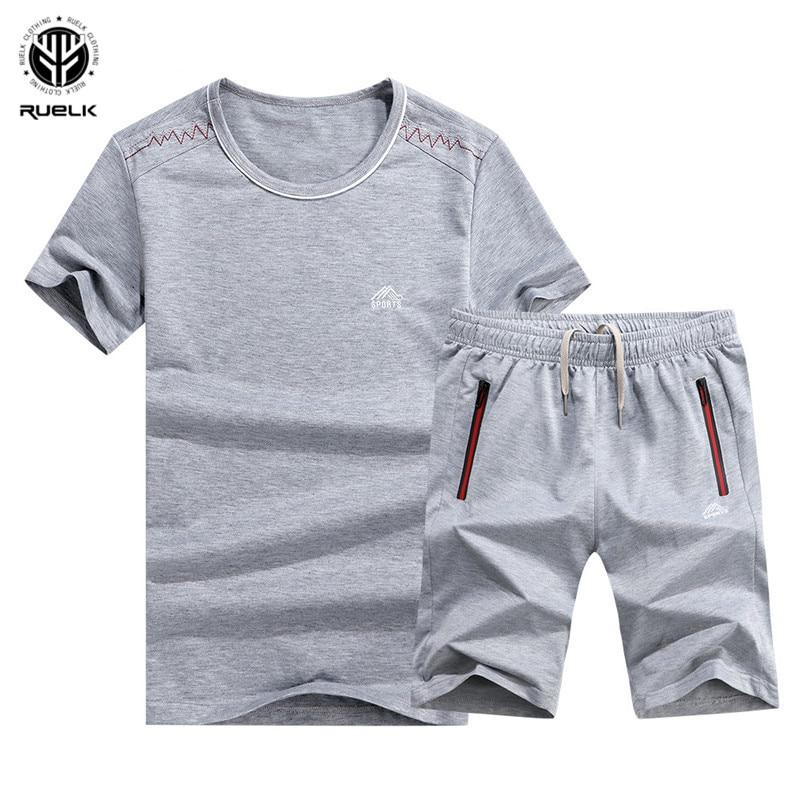 DianShao Hombre 2 Piezas Sets Camiseta Manga Corta Pantalones Cortos Imprimir Casual Ch/ándal