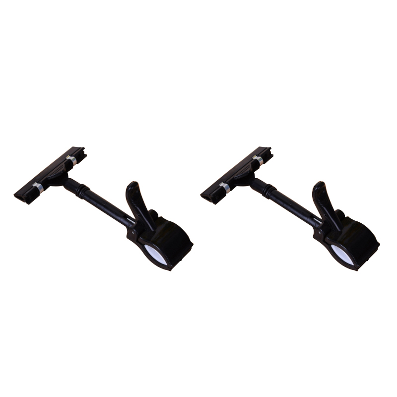 2pcs Pop Sign Card Display Clip Price Tags Holder ,black
