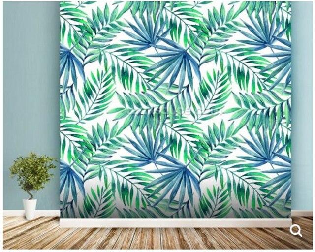Kundenspezifische Natürliche Landschaft Tapeten Blau Grün
