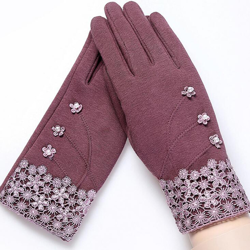 NIUPOZ Fashionable and Elegant Women Touch Screen Gloves for Winter made of Non Inverted Velvet to Keep Hands Warm 2