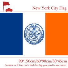 Free shipping 3x5ft New York City Flag 60*90cm 90*150cm Flag Custom Polyester For Campaign 30*45cm Car Flag free shipping washington d c flag custom 3x5ft high quality campaign vote 30 45cm car flag 90 150cm 60 90cm flag