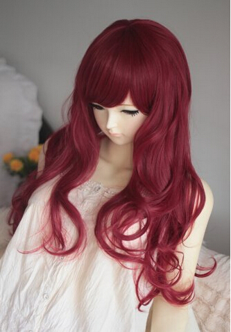 Women Sexy Long Wavy Curly Heat Resistant Hair Wig Cosplay Anime Costume Synthetic Dark Red Wigs Party Peruca Pelucas Wig Blue Party Playwig Clip Aliexpress