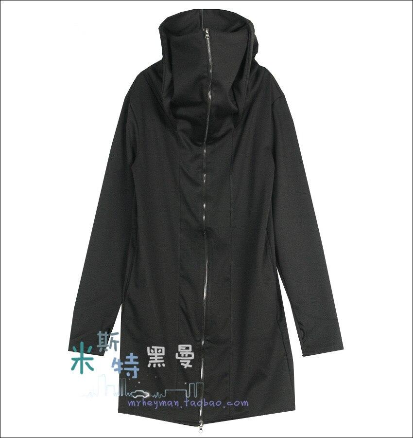 Plus De Couture Nouveaux À Black Costumes Coupe Fermeture S Col Gd 2018 Taille Manteau Exposed Vêtements Doigt vent Capuchon Éclair 5xl ~ Roulé La Gants Hommes xUtntqXp1