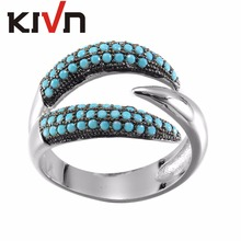 KIVN Womens Fashion jewelry Luxury Pave CZ Cubic Zirconia Bridal Wedding Engagement Rings Christmas Mothers Day Birthday Gifts