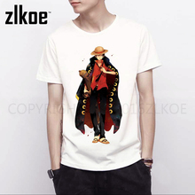 one piece t shirt Fashion Top Tees Summer T-Shirts Men Luffy Print O-Neck Man's T-shirt One Piece T shirt Large Size XXXL