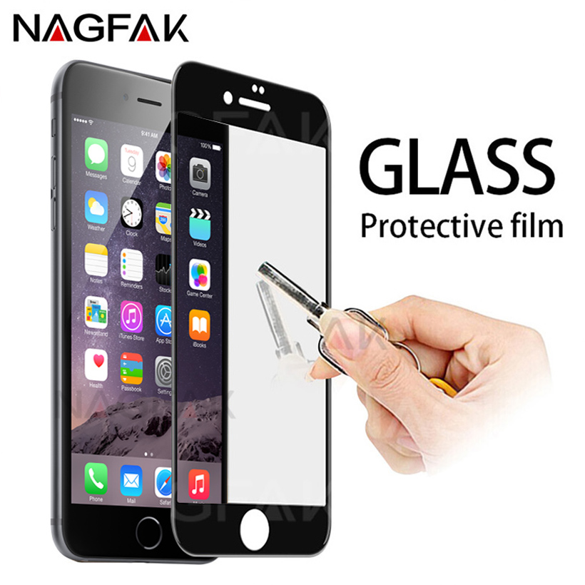 2.5D Curved Edge Full Cover Screen Protector For iPhone 7 6S 8 Tempered Glass On The For Apple iPhone 6 s 7 8 Plus Glass Film