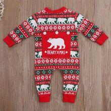Новинка; Рождественская Одежда для новорожденных мальчиков и девочек; Рождественский комбинезон; цельнокроеный детский зимний костюм
