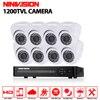 HD 8CH CCTV DVR System 8pcs Sony 1200TVL IR Cut Outdoor Video Surveillance Security Camera