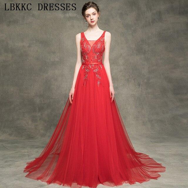 Gala Jurken Burgundy   Prom     Dresses   Sleeveless Backless Vestido De Festa Tulle Beading   Prom     Dress   Floor Length Vestido Formatura