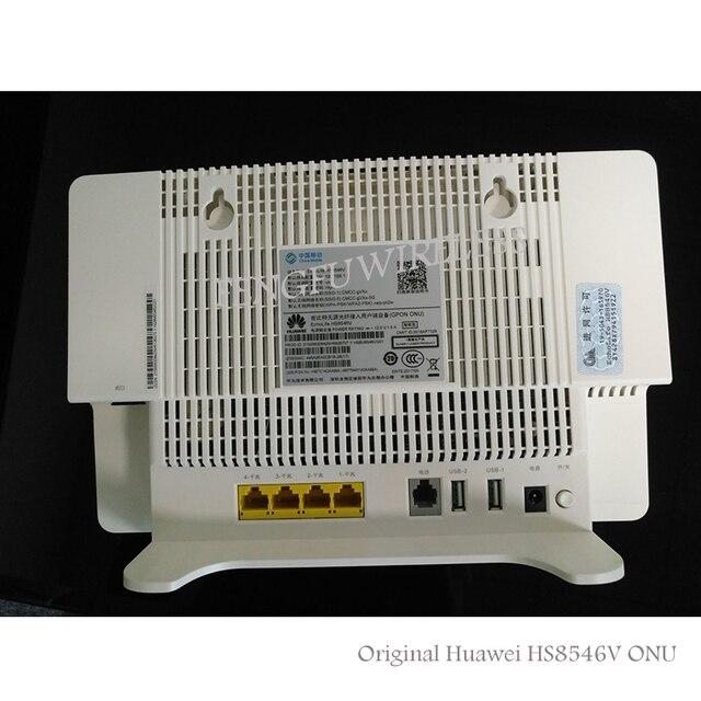 US $55 0 |Free Shipping 4GE+Wifi 2 4GHz /5GHz HS8546V GPON ONU ONT HGU Dual  Band Gigabit Router Same Function as HG8245H HG8240H HG8245Q-in Fiber