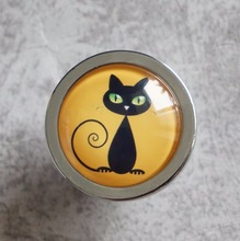 Black Cat Knobs Vintage Drawer Dresser Kids Handmade Handles Animal Cupboard Pulls knobs Kitchen Cabinet Hardware