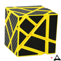 3 3 Ghost Cube Black Assembled Without Stickering Silver And Golden And White Sticker