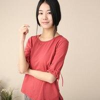 Blusa feminina 2016 modelli di estate di grande formato maniche in cotone sciolto collo rotondo T-shirt donna maglietta 4xl 5xl 6xl