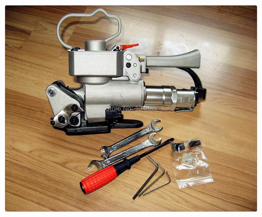 Бесплатная доставка! XQD-19 пневматические Sealless Пластик обвязки инструмент для 13-19 мм ПП ПЭТ обвязки, кольцевания ручной инструмент сварки тре...