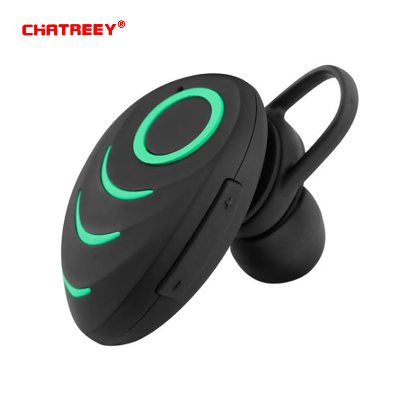 CHATREEY A3 wireless bluetooth headset, stereo music headset, built-in microphone USB interface for sports driving.
