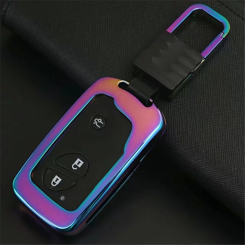 Zinc alloy Car Key Case Smart Remote Cover Keys Bag For Lexus ES 300h 250 350 IS GS CT200h RX CT200 ES240 <font><b>GX400</b></font> LX570 RX270 image