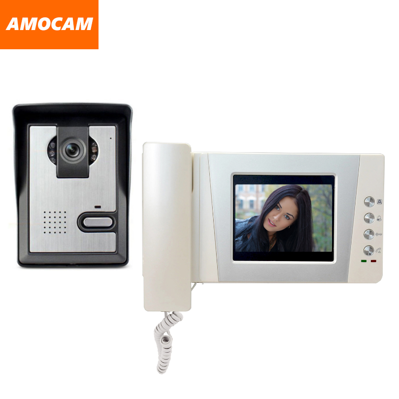 4.3 Telephone Monitor Video Door Phone Doorbell System Video Intercom  IR Night Vision Door Camera Doorbell Video Doorphone kit 9 big monitor video door phone doorbell system video intercom ir night vision door alloy camera video doorphone ui interface page 6