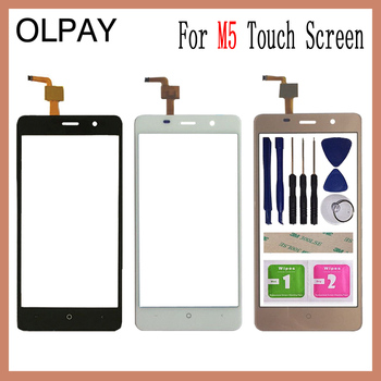 5.0''For Leagoo M5 Touch Screen Digitizer Panel Repair Parts Touchscreen Front Glass Lens Sensor Free Adhesive and wipes image