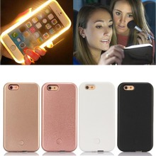 For iphone7plus LED Light Up Selfie Luminous Cover Case for iPhone6 7 6SPlus 5.5 Phone Back Case With USB Cable Protective Shell