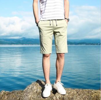 Men's casual shorts new Korean version slim pants