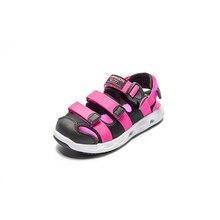Camkids сандалии для девочек спортивная обувь детские сандалии для девочек защитный носок Детские пляжная обувь сообщение Hook & Loop обувь милые