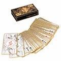 Nova Transparente À Prova D' Água PVC Cartas de Jogar Pôquer de Plástico Folha De Ouro-banhado a Ouro Dragão Totem Cartão Novidade Truque de Mágica Por Atacado