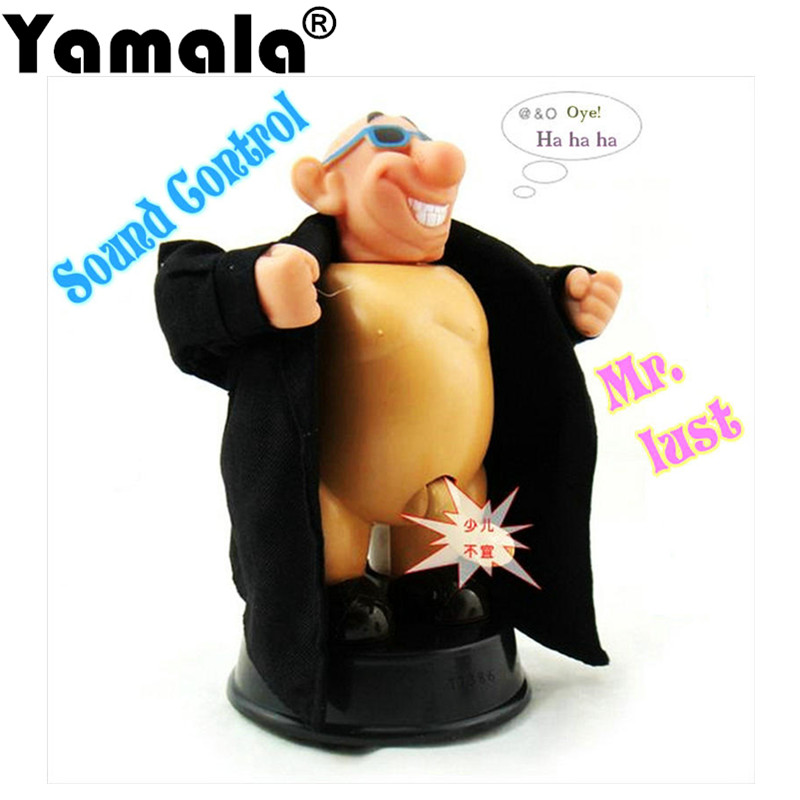 [Yamala] GANGNAM STYLE VERY DIRTY WILLY Funny Tricky Toys Voice Control Dolls WATCH ME GROW for Birthday Gift New design PSY Toy cool bloody knife tricky toys black grey