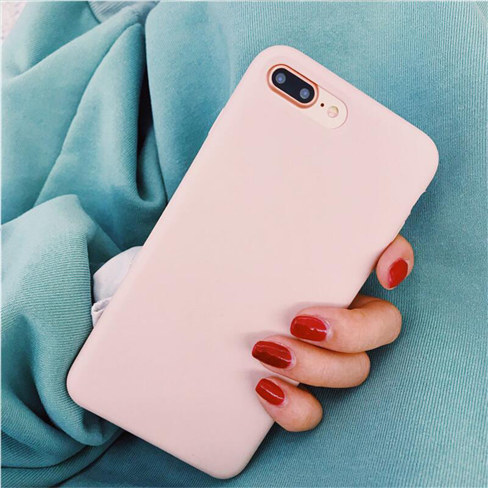 Original Silicone Case on iPhone 7 8 6 6S Plus X 5s 11