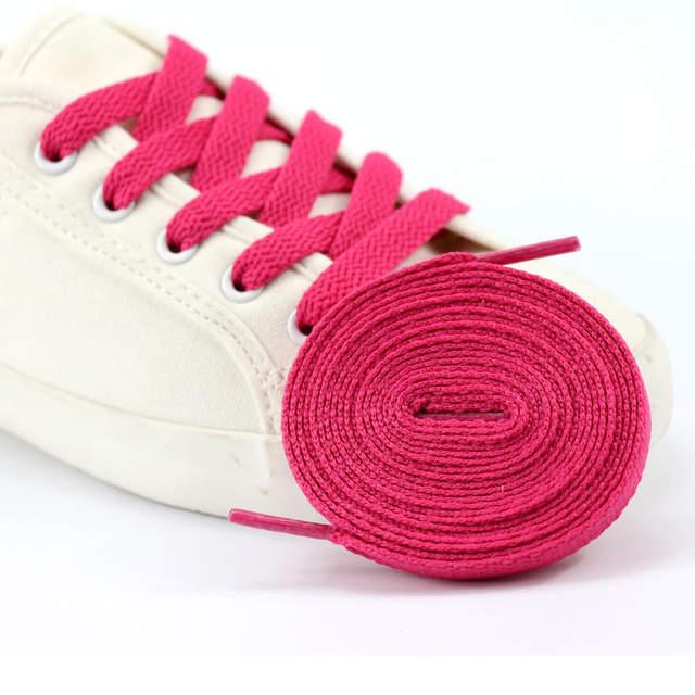 69117004eebf placeholder New 1 Pair Length  60cm-200cm Shoelaces Flat Colored Led Shoe  Laces for Fashion