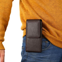 Verticial Rotary Man Belt Clip Strap Leather Mobile Phone Case Card Pouch For Samsung Galaxy On5