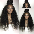 Curly Hair Lace Wig For Black Women Full Lace Wig With Natural Baby Hair Brazilian Hair Wet And Wavy Glueless Front Lace Wigs