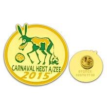 Manufacturer custom animal logo badge plating paint gold back butterfly buckle