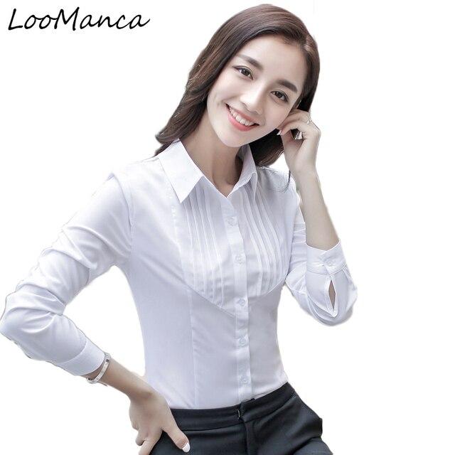 01efc45788b Plus size 5XL Fashion women long sleeve shirt tops 2018 New Spring autumn  slim reffles blouse office work wear blusas feminines