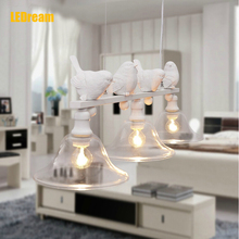 Contemporary and contracted rural restaurant lamp droplight three creative personality bar led lamps  birds droplight