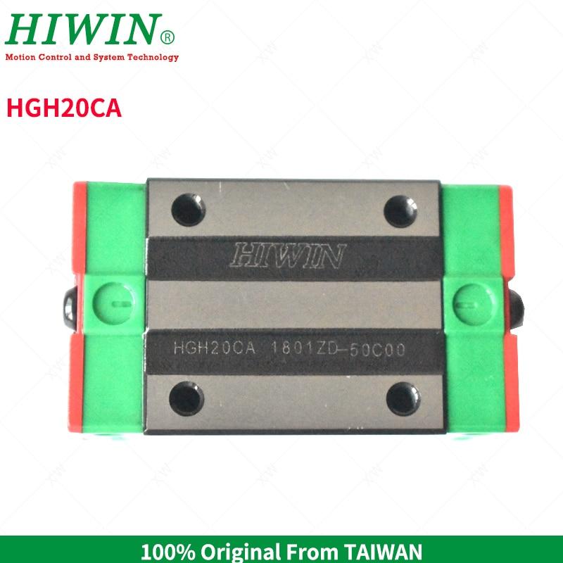 HIWIN HGH20CA linear guideway rails slide carriage block slider for CNC Kits