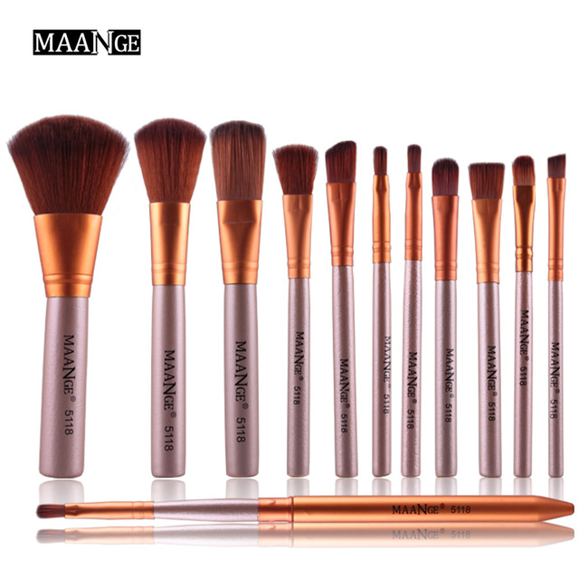 bc47d8a45543 US $7.99 30% OFF|Clearance Sale 12pcs Makeup Brushes Tool Set Power  Foundation Eye Shadow Blush Blending Cosmetic Beauty Lip Brush Kit  Maquillage-in ...