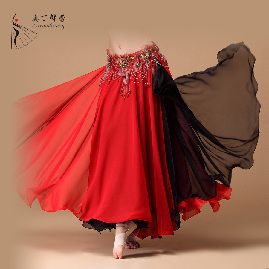 New Belly Dance Costume 2 layers with slit Skirt 11 colors