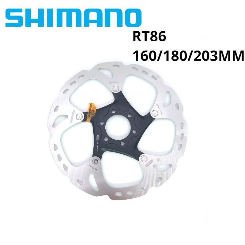 SHIMANO XT SM RT86 RT76 pointe de glace technologie disque de frein 6 boulon M8000 vtt disque SHIMANO RT86 160 MM 180 MM 203 MM vtt