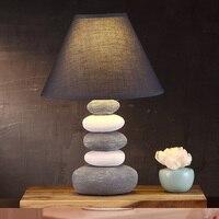 The Bedroom Bedside Grey Lamp Of American Modern Minimalist Fashion Creative Personality Ceramic Jane Warm Study