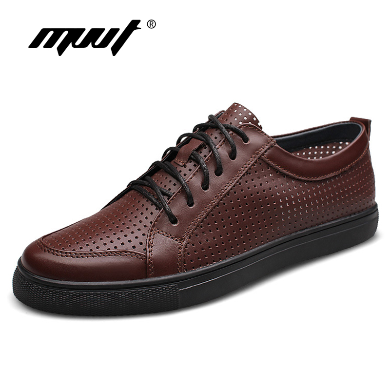 2018 Spring Breathable Casual Shoes Men Genuine Leather Shoes Top Quality Comfortable Men Loafers Fashion Men Flats Plus Size genuine leather men casual shoes plus size comfortable flats shoes fashion walking men shoes
