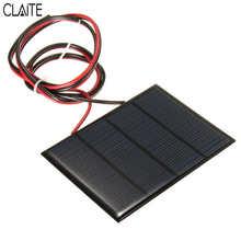 Hot Koop 12 V 1.5 W 100 MAh Polykristallijne silicium Zonnepaneel PV module Mini Zonnecellen Batterij Telefoon oplader met Lasdraad