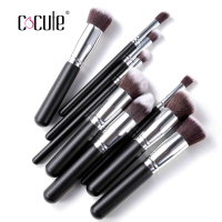 2016 10pcs Professional Makeup Brushes Set High Quality Makeup Tools Kit Cosmetic Kit Foundation Brush Full