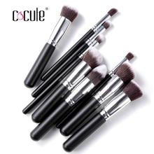 10pcs Professional Makeup Brushes Set High Quality Makeup Tools Kit cosmetic Kit foundation brush Full Function