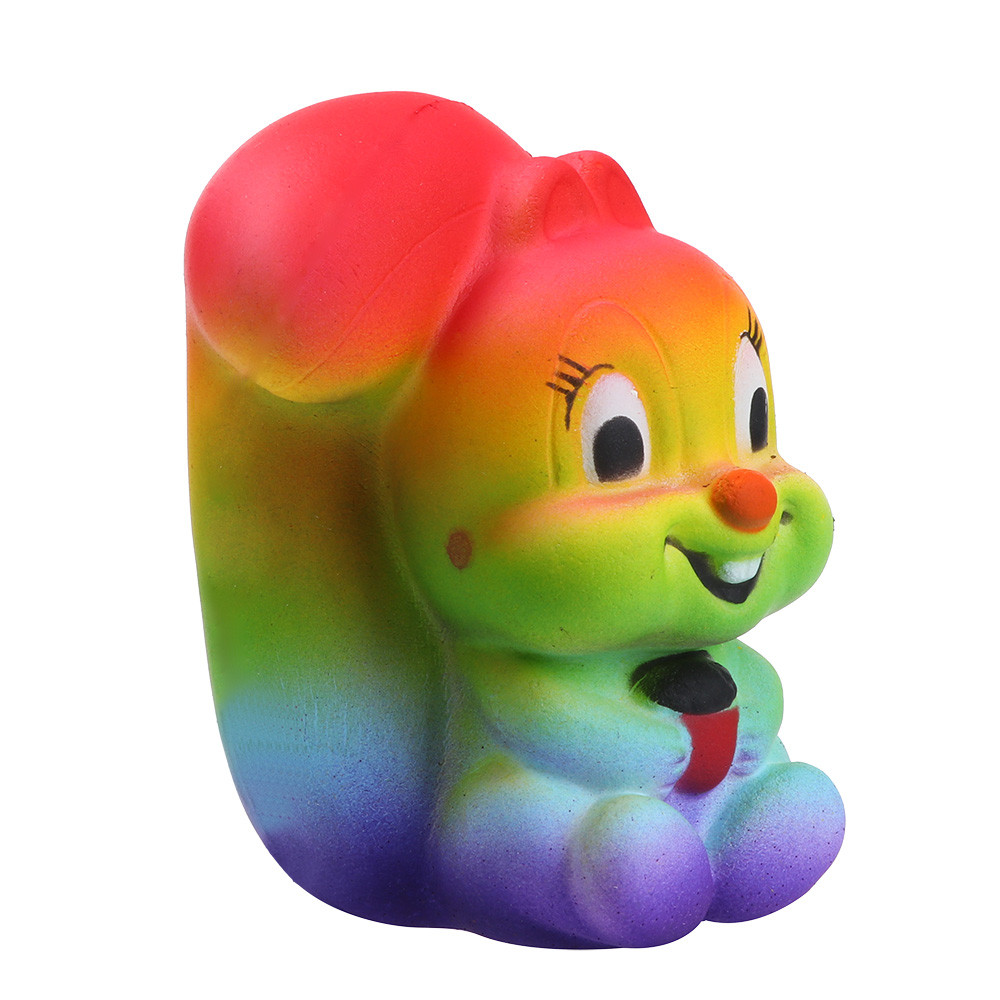 Squishy Toys Colorful Squirrel Scented Squeeze Stress ...
