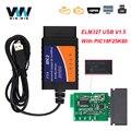 ELM327 V1.5 USB CH340 для ПК Windows PIC18F25K80 ELM 327 в 1 5 USB автомобильная Диагностика OBD2 автомобильный инструмент OBD 2 сканер ODB2 считыватель кодов