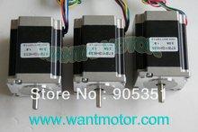 цена на Cheap CNC! 3 PCS 6-Leads 18.9Kgcm 1.8Degre 78mm CNC NEMA 23 Stepper Motor of Wantai