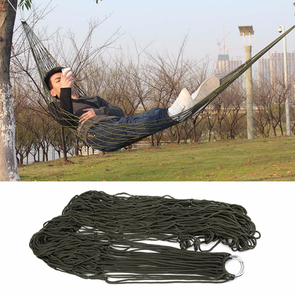 Portable Garden Outdoor Camping Travel Furniture Mesh Hammock swing Sleeping Bed Nylon Hang Mesh Net for camping hunting hiking camping hiking travel kits garden leisure travel hammock portable parachute hammocks outdoor camping using reading sleeping