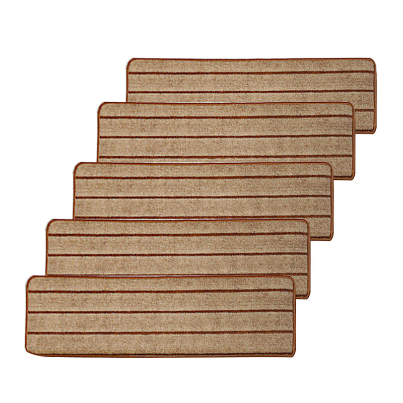 5pcs/set High Quality Stair Carpet Sets Anti Slip Stairs Tread Protector  Mats Soft Step Rug For Stair Fit For 24cm Width Stairs In Mat From Home U0026  Garden On ...